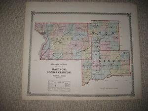 Mint Antique 1875 Madison Bond Clinton County Illinois Railroad