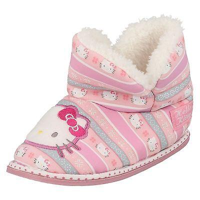 Mädchen Hello Kitty Hausschuhe mit rosa Fleece 320/3193