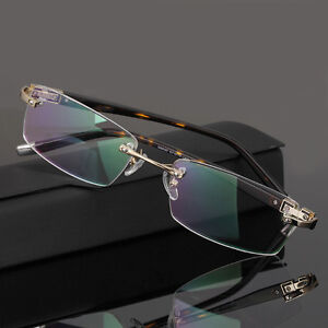 2c588253dcf Men s Rimless Eyeglass Frames Metal Spectacle Frame Glasses Frame ...