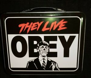 THEY-LIVE-Large-Tin-Tote-Metal-Lunch-Box-Classic-1980-Roddy-Piper-Movie