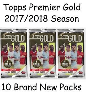 Topps Premier Gold 2017//18 paquetes de 10 Sellado
