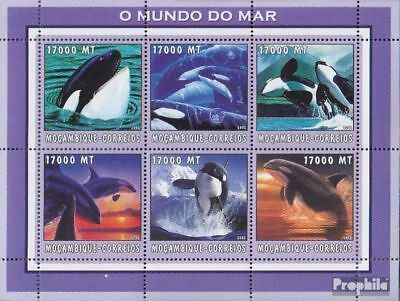 Never Hinged 2002 World Of Marine Industrious Mozambique 2686-2691 Sheetlet Unmounted Mint Animal Kingdom