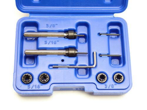 """Pilot 9pc Spot Welding Cutter Master Set Interchangeable Cutters 3//8/"""" /& 5//16/"""""""