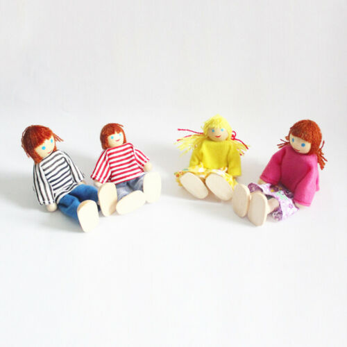 Sister Dollhouse Lovely Wooden Dolls Family People Figure with Mother Aunt