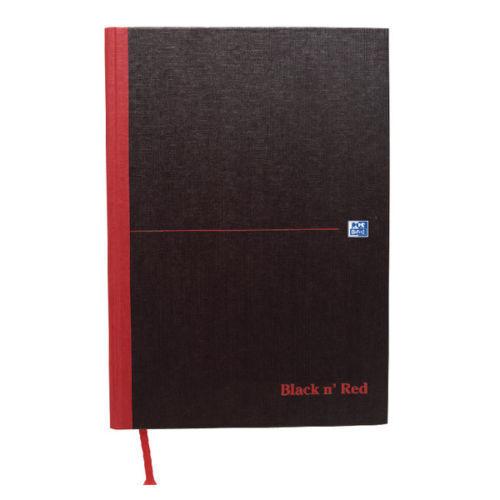 Black n Red Casebound Hardback A4//A5 Notebook Smart Ruled 100080428