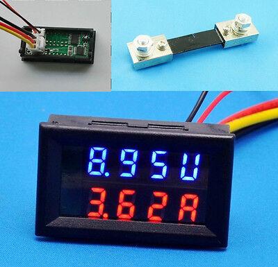 New 100V 100A DC Digital Voltmeter Ammeter LED Amp Volt Meter + Current Shunt