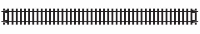 Hornby R601 Double Straight Track (1 pc) (See listing for combined postage)