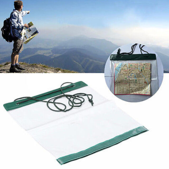 2016Waterproof Outdoor Camping Hiking Clear Map Cover Storage Case Dry Bag Pipji