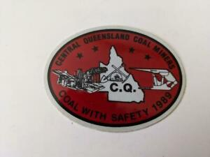 Retro-Mining-Sticker-Central-Queensland-Coal-Miners-Coal-with-Satety-1989-Re