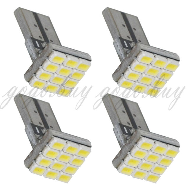 4 x T10 168 194 W5W Xenon-White 12 3020-SMD LED Car Turn Wedge Light Lamp Bulb