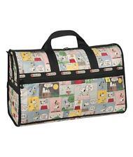 NEW LeSportsac Peanuts Snoopy Patchwork Large Weekender Bag