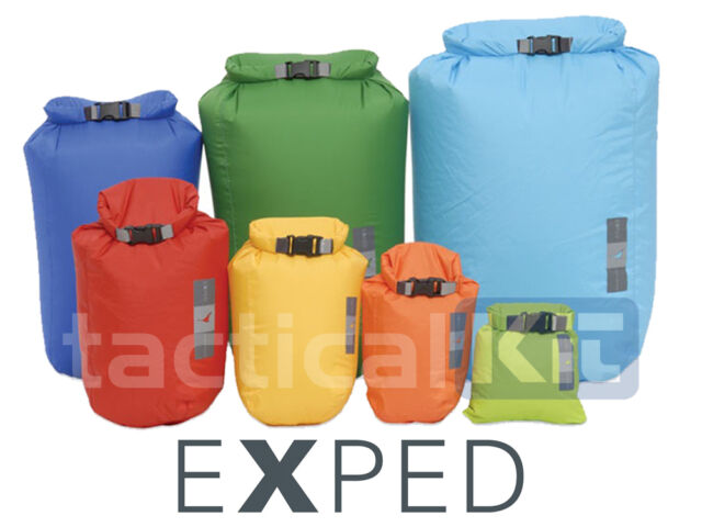 EXPED 100% Waterproof Fold Dry Bag Orange Extra Small 3 Litre XS