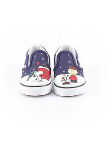 Baby-Toddler-Boy-Girl-Vans-Peanuts-Charlie-Brown-Tree-Athletic-Shoe-Size-4-19
