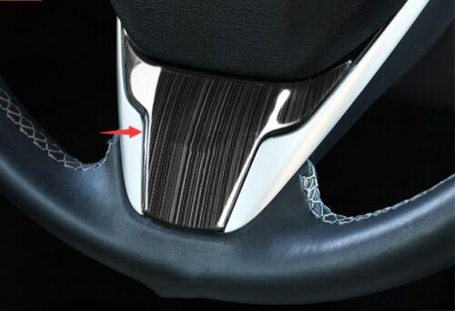 Black titanium Interior Steering wheel cover trim For Honda Civic 2016-2018