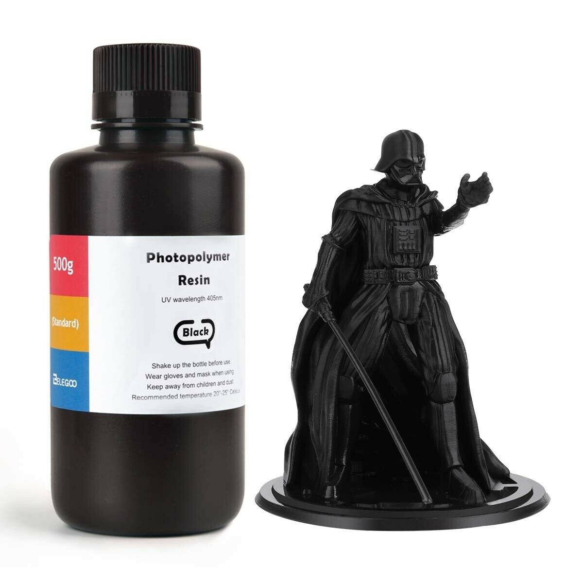ELEGOO Standard 3D Printer Rapid Resin 1000 Gram Black