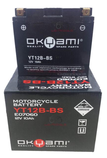Batería Okyami YT12B-BS 12V 10Ah Aprilia Sport City 125 200 250
