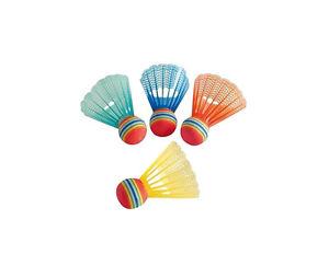 4 Stück Federbälle Fun Hudora 76047 Badminton Sport Freizeit Park Strand Ball Bälle Weitere Ballsportarten