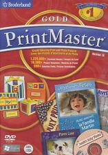 PRINTMASTER 18 GOLD Print Master Desktop Publishing Software - BRAND NEW IN BOX!