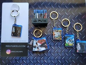 PS4 Game Key Rings - Keyring The Last of Us & More!  3 get a FREE mini stand