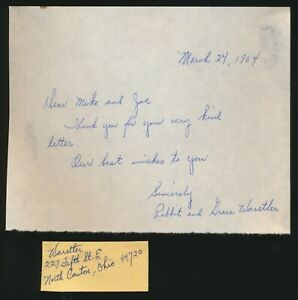 RABBIT-amp-GRACE-WARSTLER-Signed-034-Thank-You-034-note-2-months-before-he-died