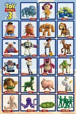 Toy Story 3 Movie Poster 23 Characters 24x36 Buzz Woody Jessie