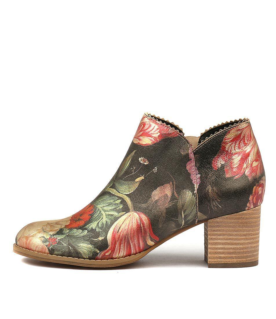 New Django & Juliette Sharon Vintage Floral Womens Shoes Casual Boots Ankle