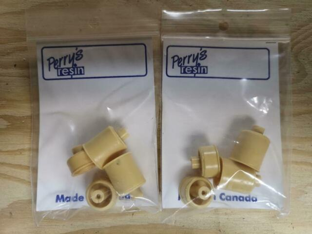 PERRYS RESIN 1 TON WHEELS  2 FRONTS AND 2 REAR DUAL ( 1/25) 2 SETS