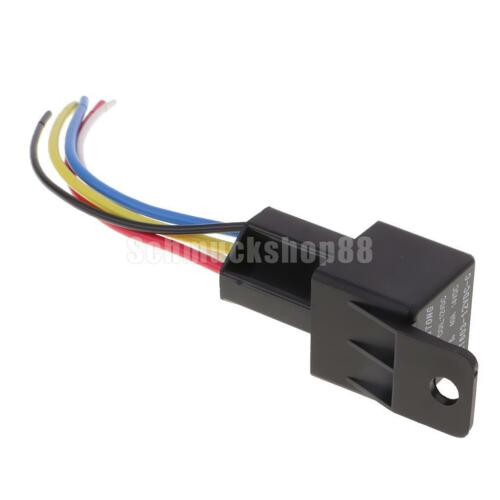 5 x DC12 40A 5 Pin Relais Sockel Steckverbinder Kit inkl 5 Kabele Kabelbaum