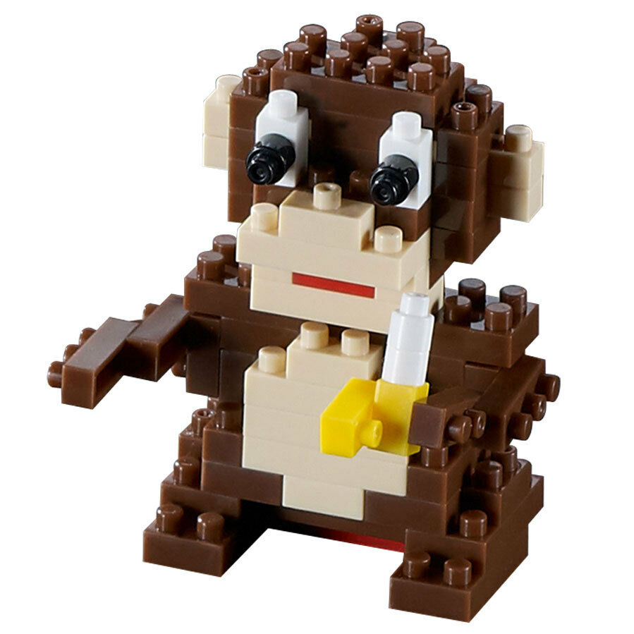LEGO 2 x Affe alt braun Brown Monkey with Yellow Hands and Feet 2550c01