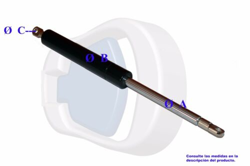 Feder Reifen Festigkeit 350 N Gas 340 mm mit Spitzenabschluß in Flansch