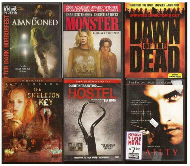 Classic Horror DVD Lot 6 Films Abandoned Monster Dawn Of