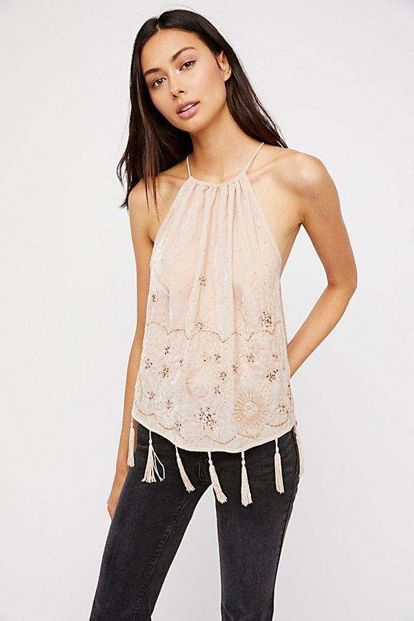 NEW Free People Midnight Magic Embellished Tank Large MSRP