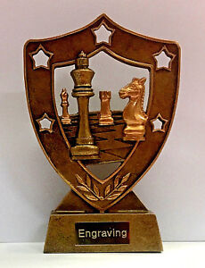 Chess Trophy + FREE Engraving and FREE P&P