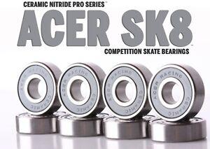 608-Ceramic-Skate-Bearings-8-piece-8x22x7mm-Si3N4-by-ACER-Racing