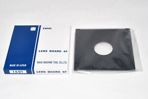 New-Toyo-Field-45A-4x5-Copal-amp-Compur-0-lens-board-110x110mm-1601-from-Japan