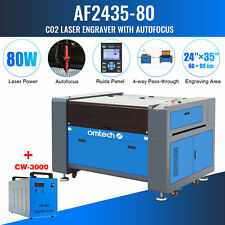 Upgraded 80w 3524 Co2 Laser Engraver Cutter Autofocus With Cw3000 Water Chiller