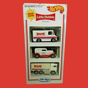 Hot Wheels 1994 Little Debbie Snacks McKee Collectors (3 Item Pack) Unopened Box