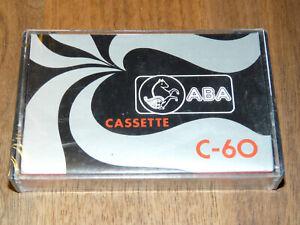 ABA C60 Leerkassette Musikkassette neu in Folie, vintage audio tape