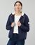 Joules Ladies Joanna Zip Through Fleece Lined Hoodie Navy