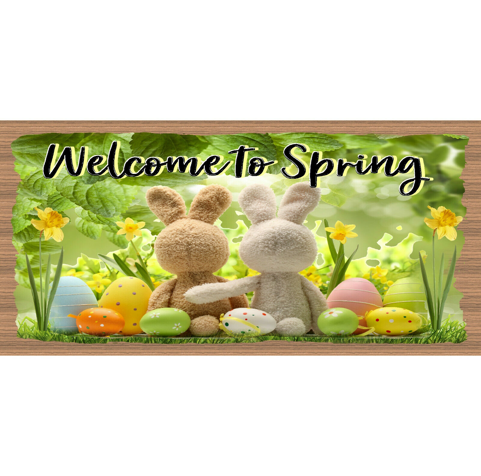 Easter Wood Signs - Welcome to Spring - GS 979- Easter Decor