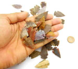 70-PCS-LOT-OF-ARROWHEADS-SPEARHEAD-BOW-POINTS-HUNTING-FLINT-STONE-COLLECTION