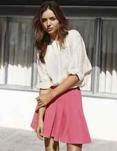 Image Is Loading Miranda Kerr H Amp M Hot Pink Pleated