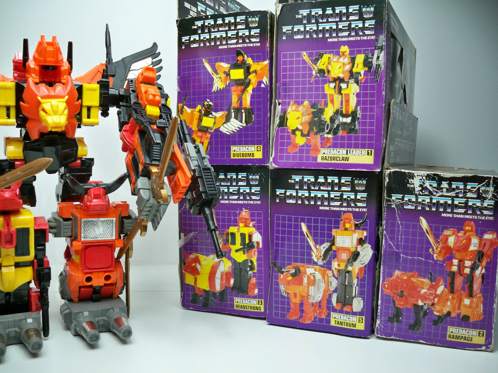 a la venta K1599255 Predaking Predacons Metal Set Transformers G1 Mib Mib Mib Syle 100% Completo  despacho de tienda