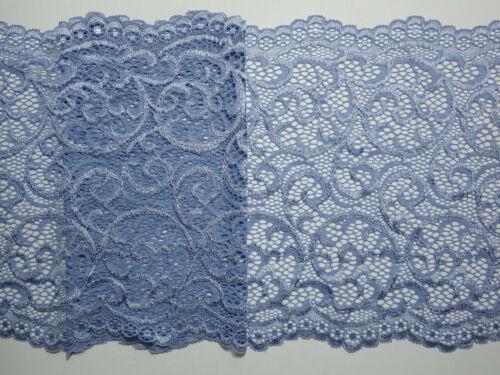 """2 metros Calidad Polvo Azul Ancho Elástico Suave de Encaje de corte 9/""""//23cm Top Seller"""