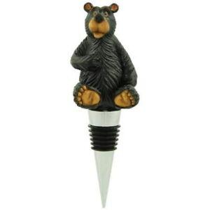 Bear Wine Stopper Bottle Topper Lodge Decor 5-inch Hand Painted