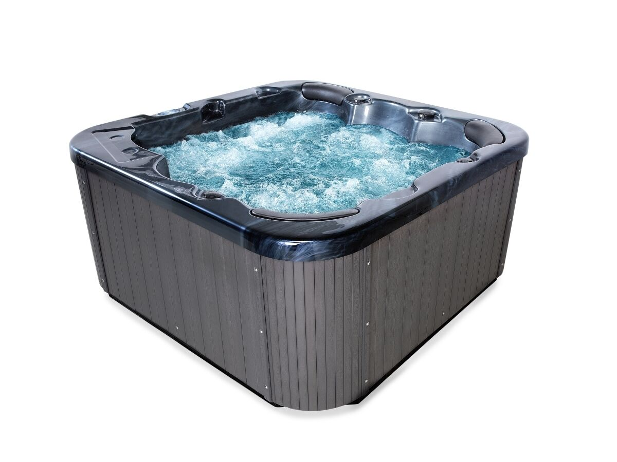 outdoor whirlpool mit heizung led ozon treppe hot tub spa f r 3 personen garten ebay. Black Bedroom Furniture Sets. Home Design Ideas