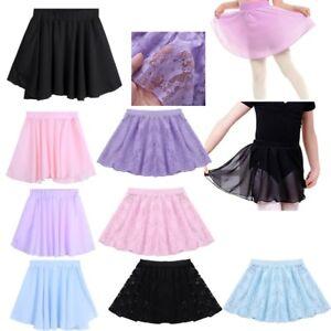 fe871e2a0d84 Toddler Girl Dance Basic Chiffon Wrap Skirt Pull-On Ballet Tutu ...