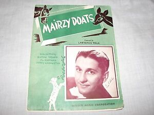 COVER-Sheet-Music-Lawrence-Welk-Mairzy-Doats-Milton-Drake-Al-Hoffman-picture-old