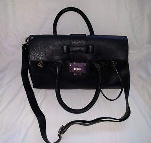 Image Is Loading Jimmy Choo Rosalie Handbag Black Leather Satchel Shoulder