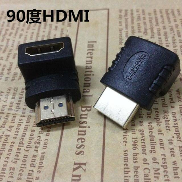 HDMI Male to Female Right Angle Connector Adapter 90Degree Extender 1080P HDTV l